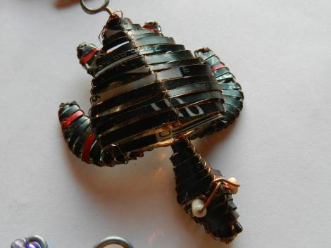 Tin can turtle key ring.