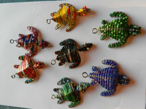 Amazing collection of turtle key rings.
